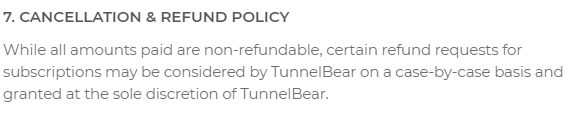 TunnelBear-Cancellation